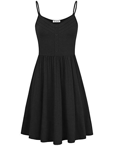 Becanbe Shirt Dress,Fall Casual Sleeveless Casual Beach Swing (Short Smock)
