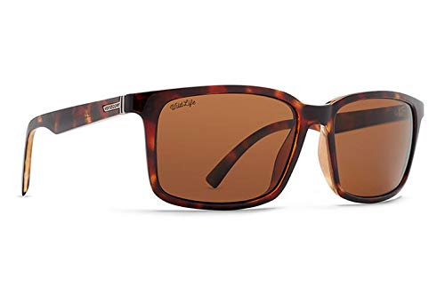 (VonZipper Mens Pinch Polarized Sunglasses, Tabacco Tortoise w/Wildlife Bronze Lens)
