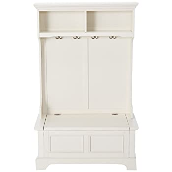 Home Styles 5530-49 Naples Hall Tree, White Finish