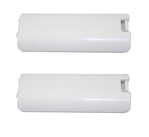 Games&Tech 2 x White Replacment Battery Cover for Nintendo Wii Controller Remote