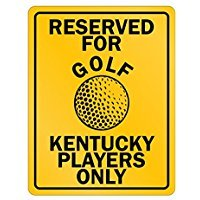 Reserved for Golf Kentucky - Usa States - Parking Sign [ Decorative Novelty Sign Wall Plaque ]