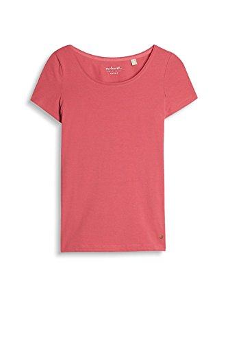 ESPRIT 126ee1k005, Camiseta para Mujer Rojo (Berry Red 4)