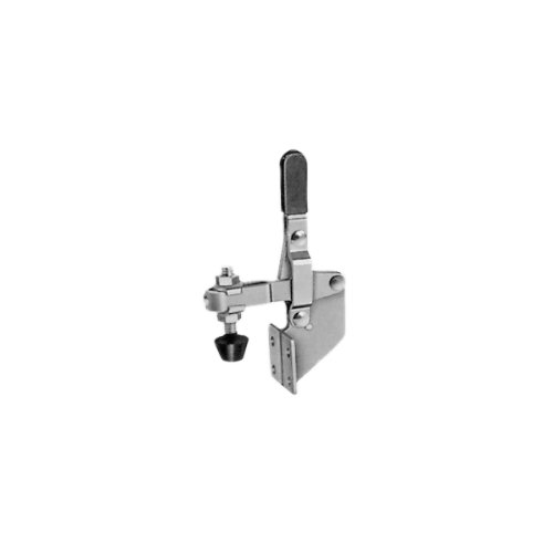 JW Winco 101-B Steel Vertical Acting Toggle Clamp with Vertical Mounting Base 220-Pound Holding Capacity U-Bar Straight Handle