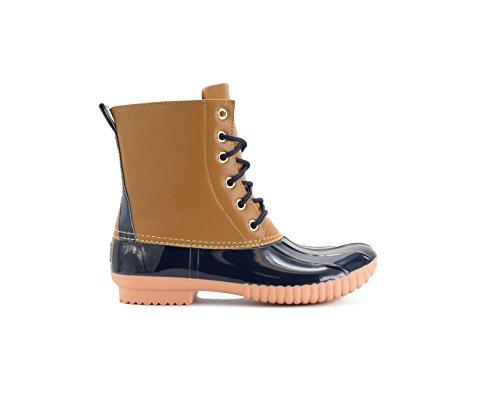 Navy Waterproof Womens Rain Tan Boot Duckboots Avanti Rosetta qtw56wY