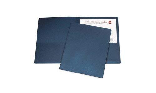 Dark Blue 7510-00-584-2489 Double Pocket Portfolio 11 x 8 1//2 AbilityOne