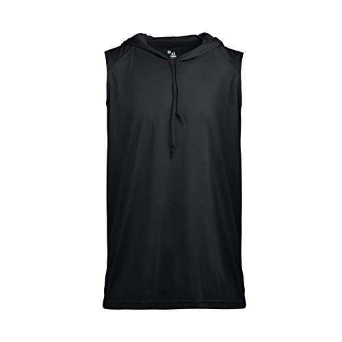 - Badger Sport Black Youth Large Sleeveless Wicking Hoodie