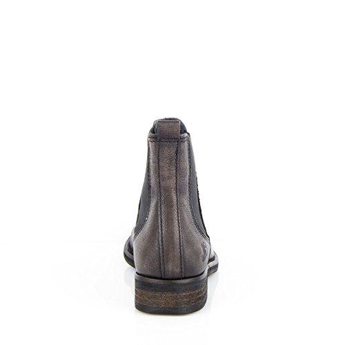 Classiques Noir amour Cuir Chaussures 8487 Femme EU Tomber Véritable en Felmini Chelsea avec Bottines qzwTSn