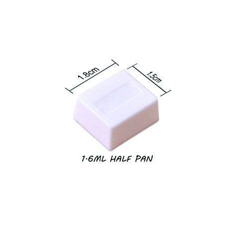 Pebbleアート空half-pan水彩パレットプラスチック空–20個
