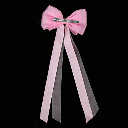 Women Classical Chinese Cosplay Costume Hair Accessories Ribbon Hair Clip (Color - Pink)