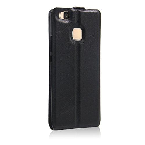 Funda Huawei P9 Lite,Manyip Caja del teléfono del cuero,Protector de Pantalla de Slim Case Estilo Billetera con Ranuras para Tarjetas, Soporte Plegable, Cierre Magnético A