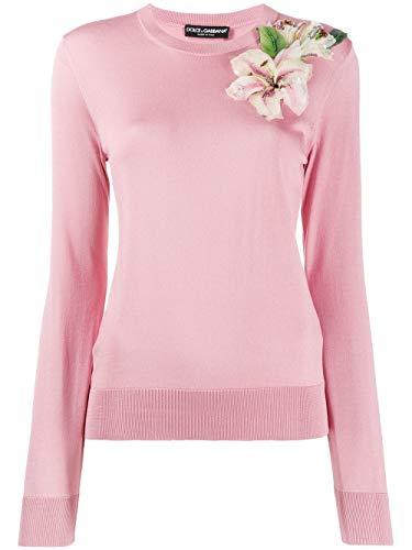 Dolce e Gabbana Women's Fx150zjashef0473 Pink Silk Sweater