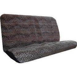h Tan Rear Bench or Small Truck Seat Covers Black 2 piece Universal Print Vehicle Seatcovers ()