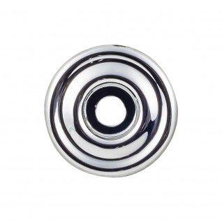 Chrome Knob Backplates - Top Knobs Brixton Backplate 1 3/8 Inch Polished Chrome