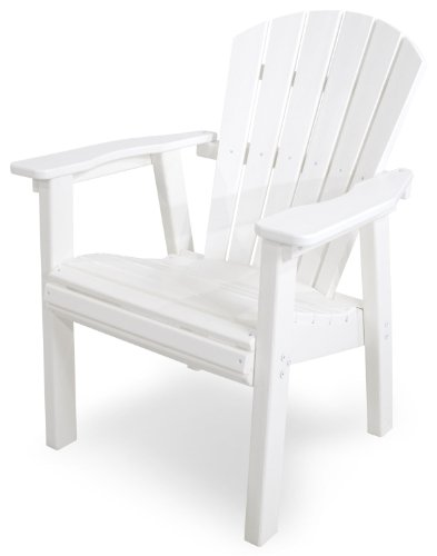 POLYWOOD SHD19WH Seashell Casual Chair, White