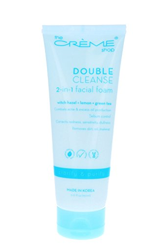 The Crème Shop Korean Beauty Skincare Best Daily Makeup Remover, Brightens Regenerates Relief Acne Scars and Redness, Deep Cleansing Silky Texture - Double Cleanse 2 in 1 Facial foam(Witch Hazel)