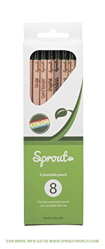 Sprout Pencil: Color Pencil 8 Pack (Mix (Seed Sprouting Sprouts)