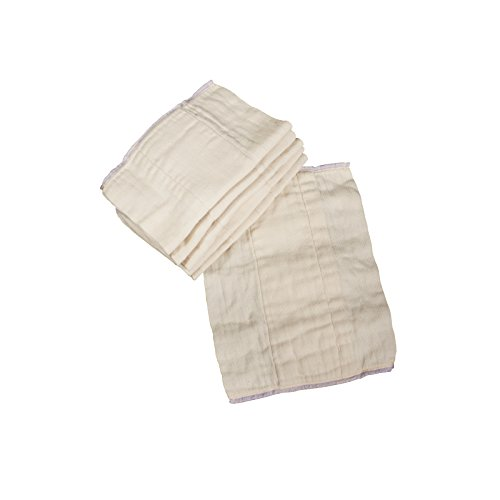 OsoCozy Unbleached Prefold Diapers Preemie product image