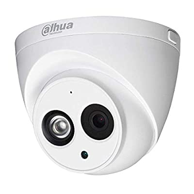 Dahua 4MP PoE IP Security Camera IPC-HDW4433C-A,4 Megapixels Super HD Outdoor Surveillance Camera Dome with Built-in Mic for Audio,IR Night Vision,H.265,IP67 Waterproof,ONVIF by Dahua