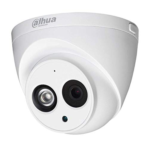 Dahua 4MP PoE IP Security Camera IPC-HDW4433C-A 2.8mm Lens,4 Megapixels Super HD 2688x1520 Outdoor Surveillance Camera Dome with Built-in Mic for Audio,50m IR Night Vision,H.265,IP67 Waterproof,ONVIF