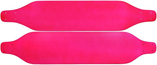 NEON PINK Drop Down LONGBOARD SKATEBOARD Deck WEDGE NOSE 8 in x 40 in