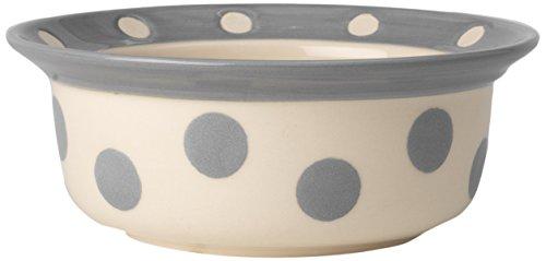 - PetRageous 14016 Polka Paws Gray 2 Cup Bowl