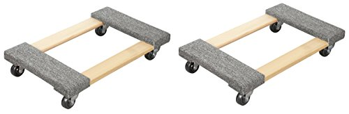 TruePower Hardwood Carpet End Furniture Dolly/Mover's Dolly 3'' Casters 1000 lb. Capacity 2 Piece Set by TruePower