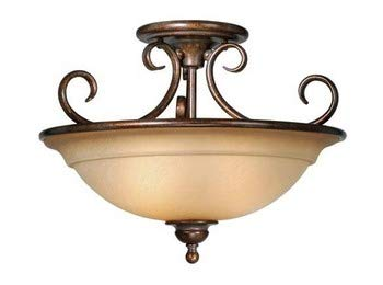Vaxcel Lighting OM-CFU160 Omni 3 Light Ceiling Fixture, Royal Bronze