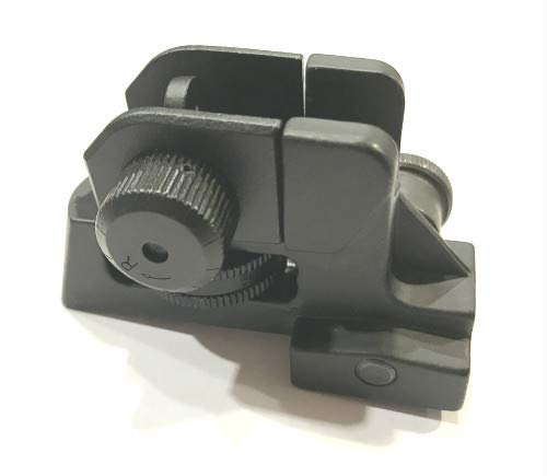 DB TAC Rear Iron Sight Tactical Aluminum Picatinny/Weaver Complete Match-Grade 4/15 Back up ()