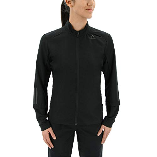 adidas Women's Running Response Wind Jacket, Black, X-Large