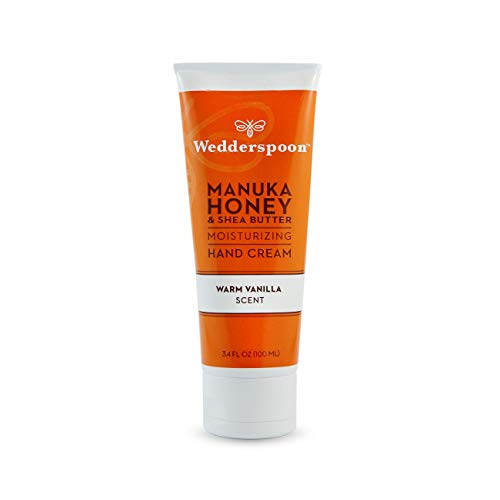 (Wedderspoon Organic Manuka Honey & Shea Butter Moisturizing Hand Cream, Warm Vanilla Scent, 3.4 Ounce)