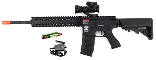 (G&G CM16 R8-L Combat Machine M4 AEG Airsoft Gun (Black) w/Red Dot Sight)