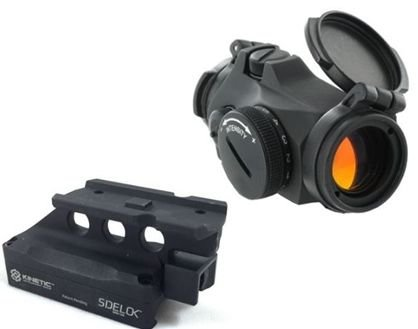 Aimpoint Micro T-2 Red Dot Sight, 2 MOA w/ Kinetic Development Group SIDELOK Aimpoint Micro