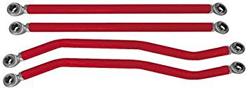 ModQuad Rear Radius Ground Clear Rods - Red RZR-RRG-1K-RD