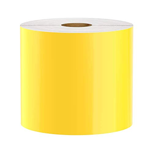 (Premium Vinyl Label Tape for DuraLabel, LabelTac, VnM, SafetyPro and Others, Yellow, 4