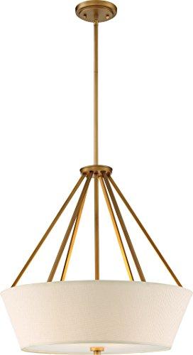 (Nuvo Lighting Nuvo 60/5841 Four Light Pendant, Natural Brass)
