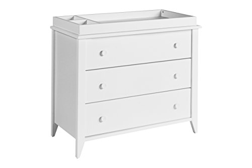 Babyletto Sprout 3-Drawer Changer Dresser with Removable Changing Tray, White