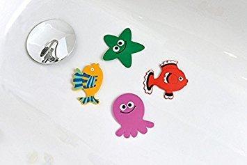 Non-Slip Bathtub Appliques - Kids Bath Tub Mat Non Skid Childish PVC Sea Animals