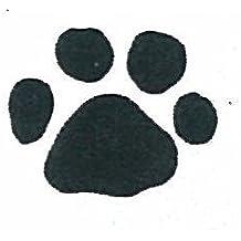 "Dog Rubber Stamp - Paw Print Medium-B4 (Size: 1-1/8"" Wide X 7/8"" Tall)"