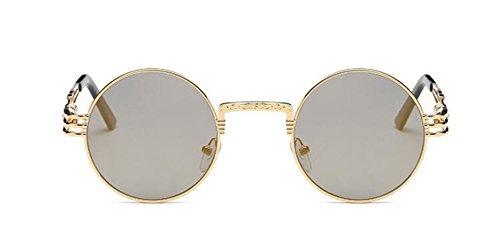 vintage Lennon style retro soleil polarisées en métallique Local lunettes cercle rond inspirées du Or de 0wYx8