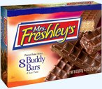 3 boxes,Buddy Bars 8 per box, 4 twin packs, mrs. freshley's, peanut butter wafers ()