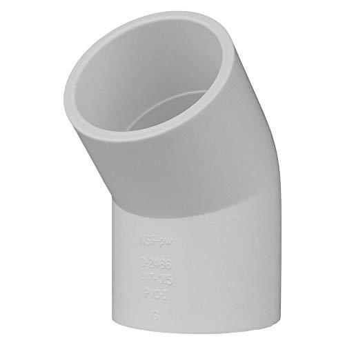 Charlotte Pipe 1 1/2 SCH 40/45 Degree Ell Sxs PVC Pressure (25 Unit Box)