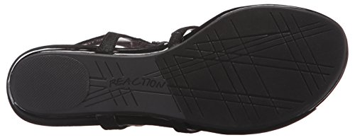 Sandal Lost The Women's Kenneth Cole Way Flat Reaction Black w41nvR