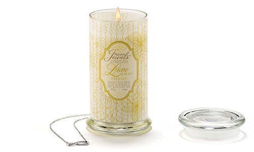 Giftcraft Secret Jewels Freesia Scented Love Always Candl...