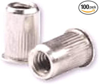 100 PK CAH2-1032-130B Steel CLSD End 10-32 Low PRO HD .020-.130 GR Semi-Hex Body RIVETNUT Zinc YLW