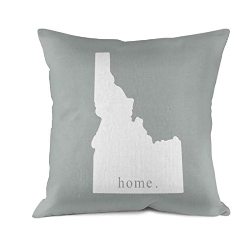 Nkctw Throw Pillow Covers Idaho-Home Decorative Pillows Cases Pillowcases for Outdoor Decoration Pillow Protectors Standard Size 18 X 18 -