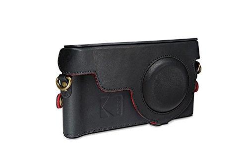 genuine-official-kodak-camera-leather-case-cover-for-kodak-ektra-smartphone-black-red