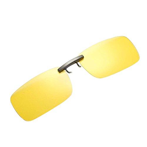Gafa Miopía para UV400 Conducción con Sol Clip amarillo Magideal Unisex Polarizado de ad0xBwB