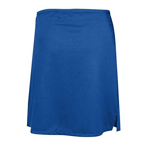 KoLan Womens Clothing Women's A-Line Short Skirts Solid Active Skorts Performance Skirt Running Tennis Golf Workout Sports (L, ()