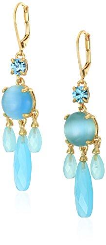 (kate spade new york Semi Precious Turquoise Chandelier Earrings)