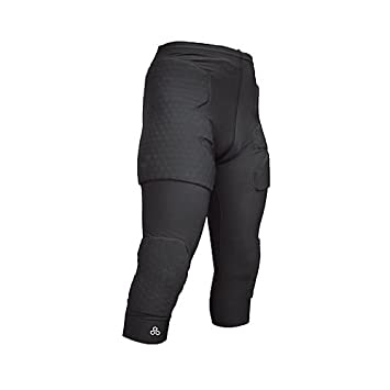57f31831dc McDavid 3/4 Length Compression Pant with HexPad Thigh, Hip, Knee Protection  (Black, Small): Amazon.co.uk: Sports & Outdoors